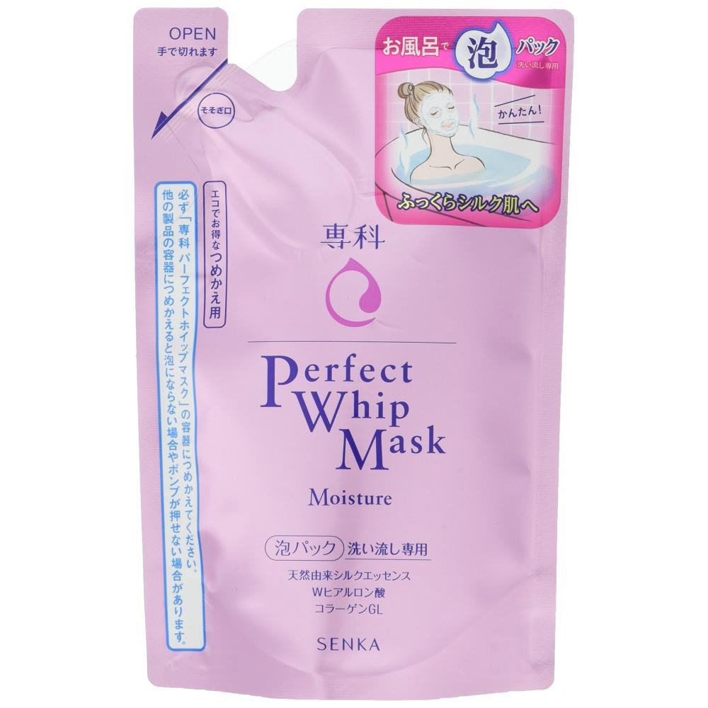 Senka Perfect Whip Mask, Rinse Only, Bubble Pack, Refill, 130ml