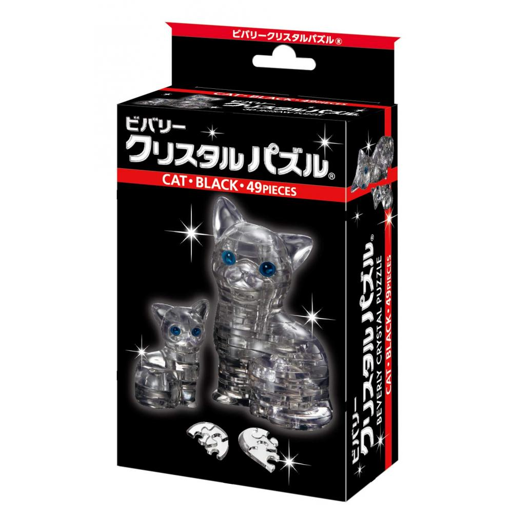 Crystal puzzle Cat black 50156