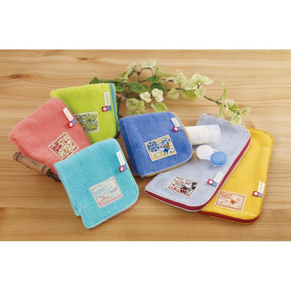 Eye up Imabari towel handkerchief Dot pouch Disney Winnie the Pooh AG