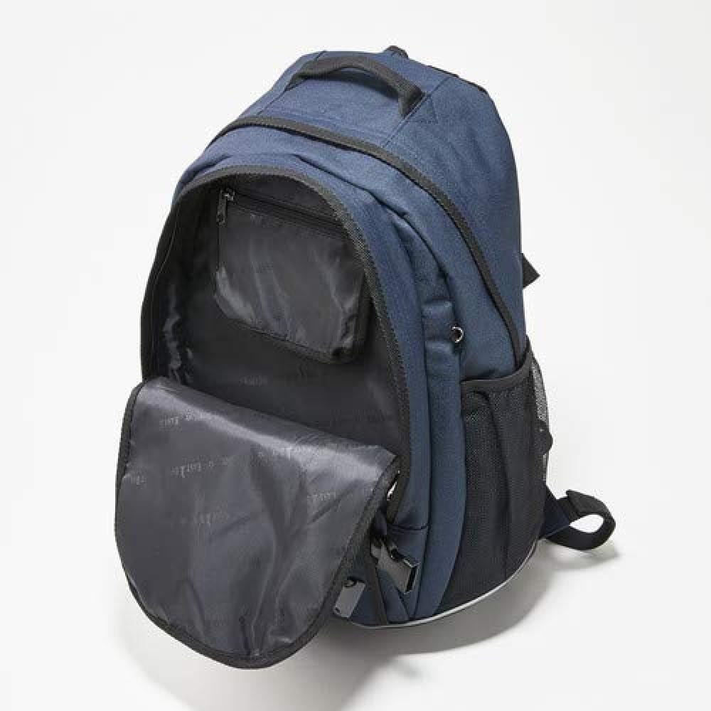 [East Boy School] Day Bag <27L> 0209075 Black x Blue (940)