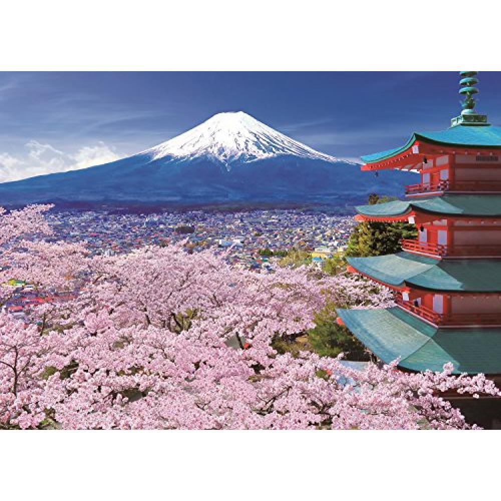 500 pieces jigsaw Harukaze Fuji and storied pagoda - Yamanashi (38x53cm)