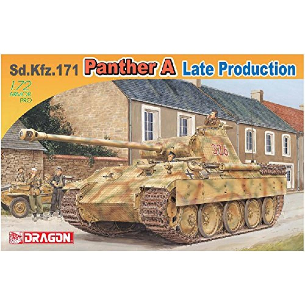 Dragon 1/72 World War II German Army Sd.Kfz.171 Panther A type late production plastic model DR7505