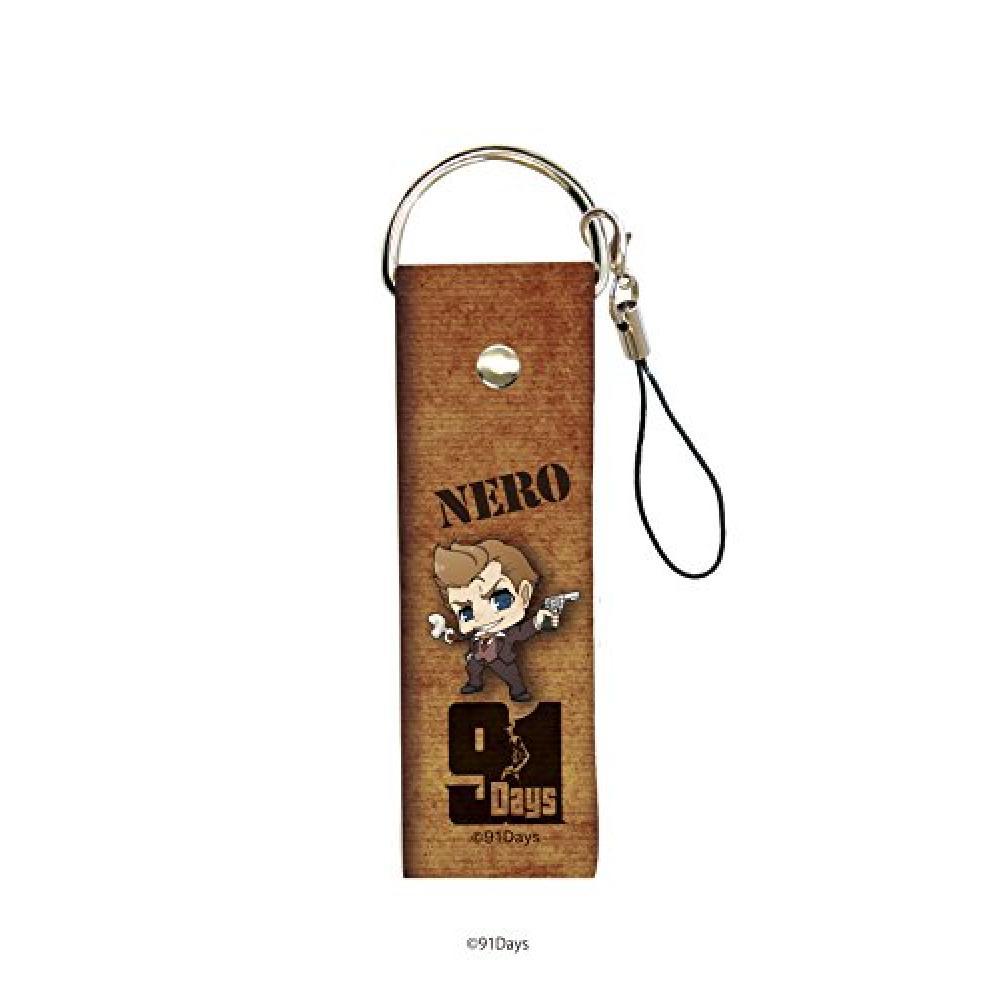 Big leather strap 91Days 02 Nero