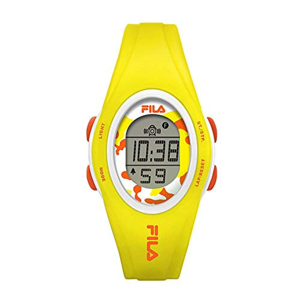 [Fila] FILA Sports Watch Men's Women's Kids Digital Yellow Rubber Running Jogging 38-050-202 Watch