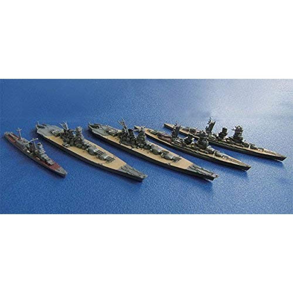 Fujimi Model 1/3000 Collecting Warship Series No.3 Combined Fleet Flagship Nagato/Mutsu/Yamato/Musashi/Oyodo Set Plastic Model