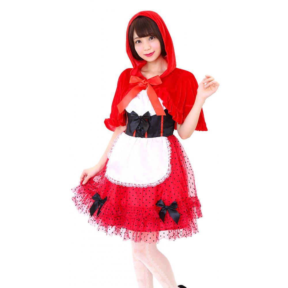 Red Hood girl costume Ladies 155cm-165cm clear Stone genuine