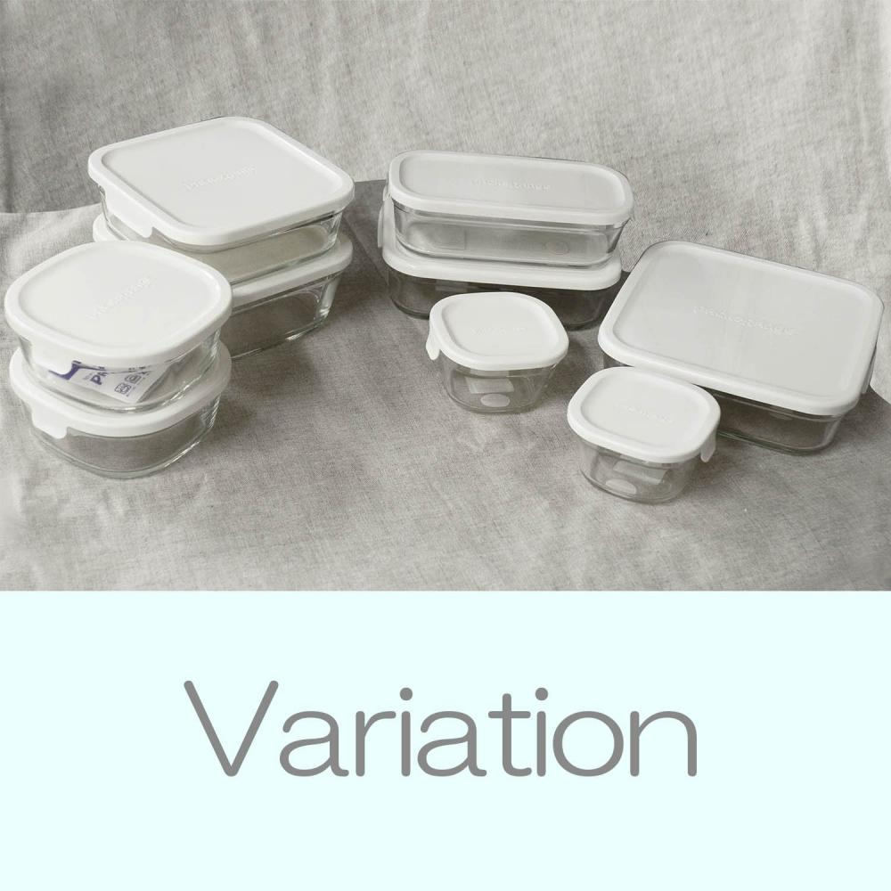 Iwaki storage container pack & range shallow S (mini) 450ml white KN3240-W