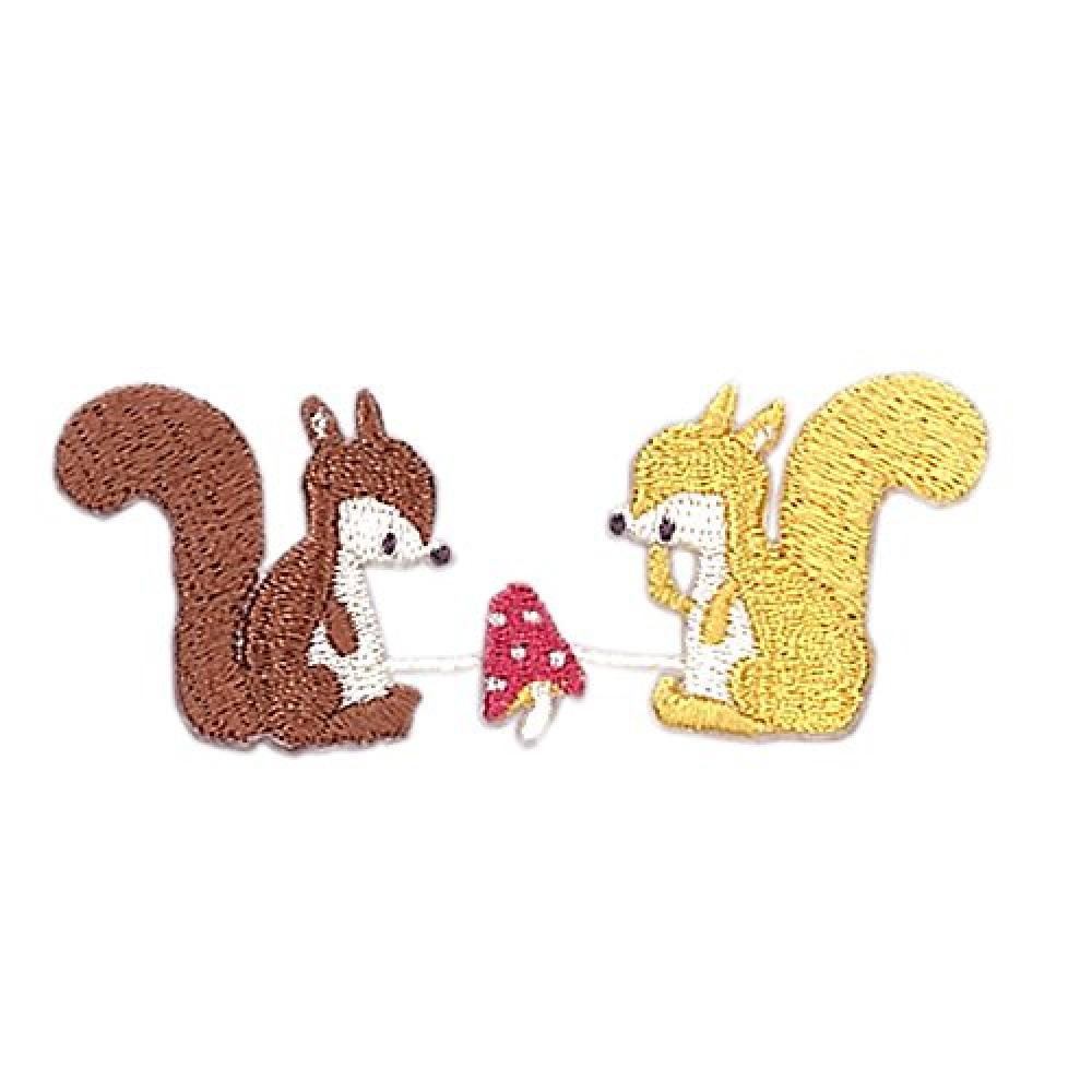 KIYOHARA Putidepomu continuous patch squirrel width of about 6 cm × vertical 2.6 cm 1 pieces PTM-440