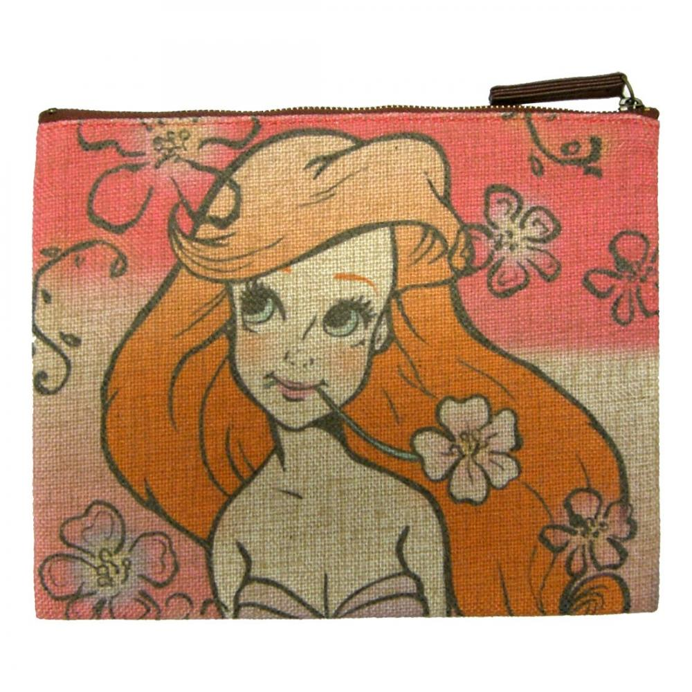 Disney Ariel flat pouch about H18cm x W23cm APDS1703R