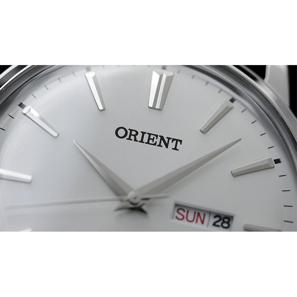 Orient Orient FUG1R003W6 43mm Stainless Steel Case Brown Calfskin Mineral Men's Watch Men Men Watch