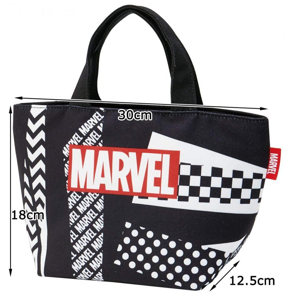 Skater canvas lunchback tote bag Marvel logo YEB5