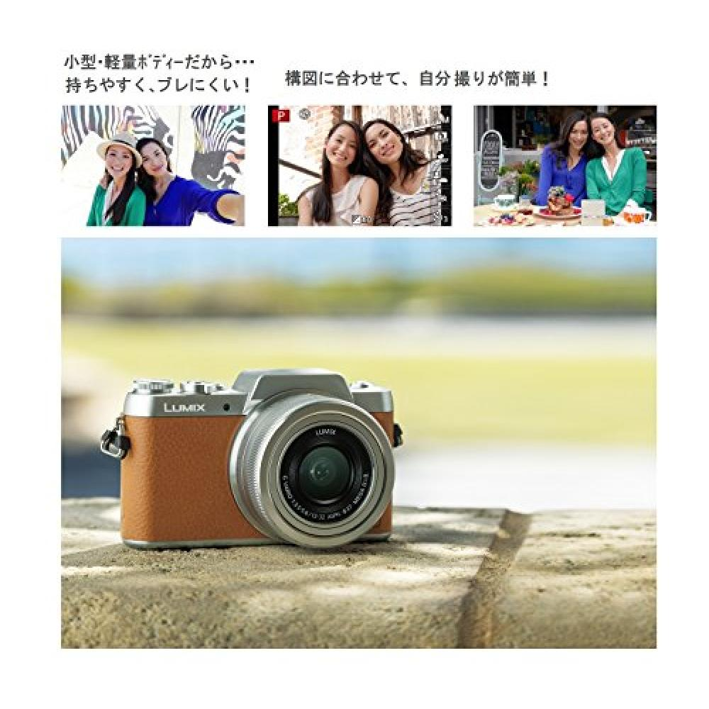 Panasonic Mirrorless interchangeable-lens camera DMC-GF7 double zoom lens kit Standard zoom lens/telephoto zoom lens included Brown DMC-GF7W-T