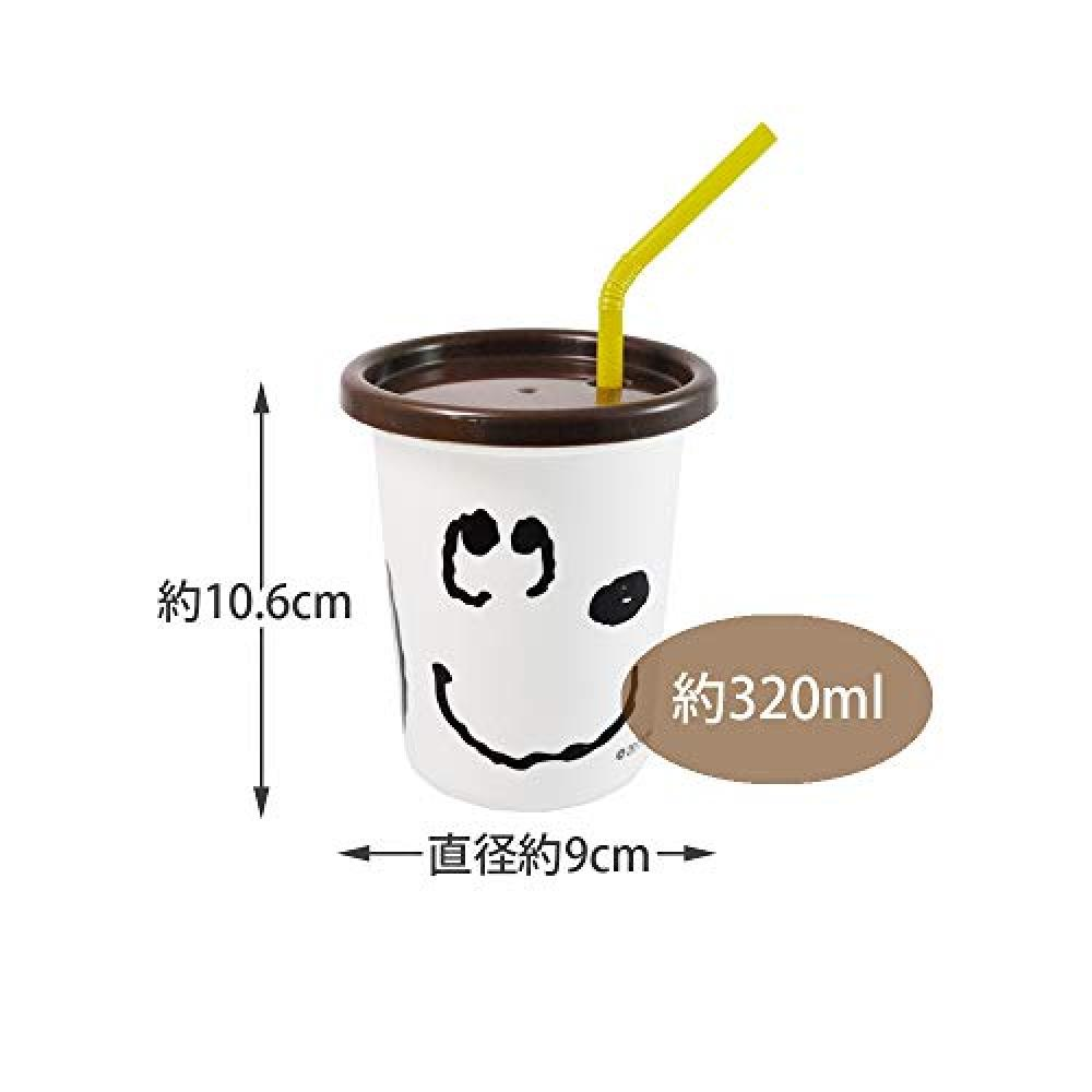 Three tumblers with skater straw 320ml Snoopy Face Peanuts SIH3ST made in Japan