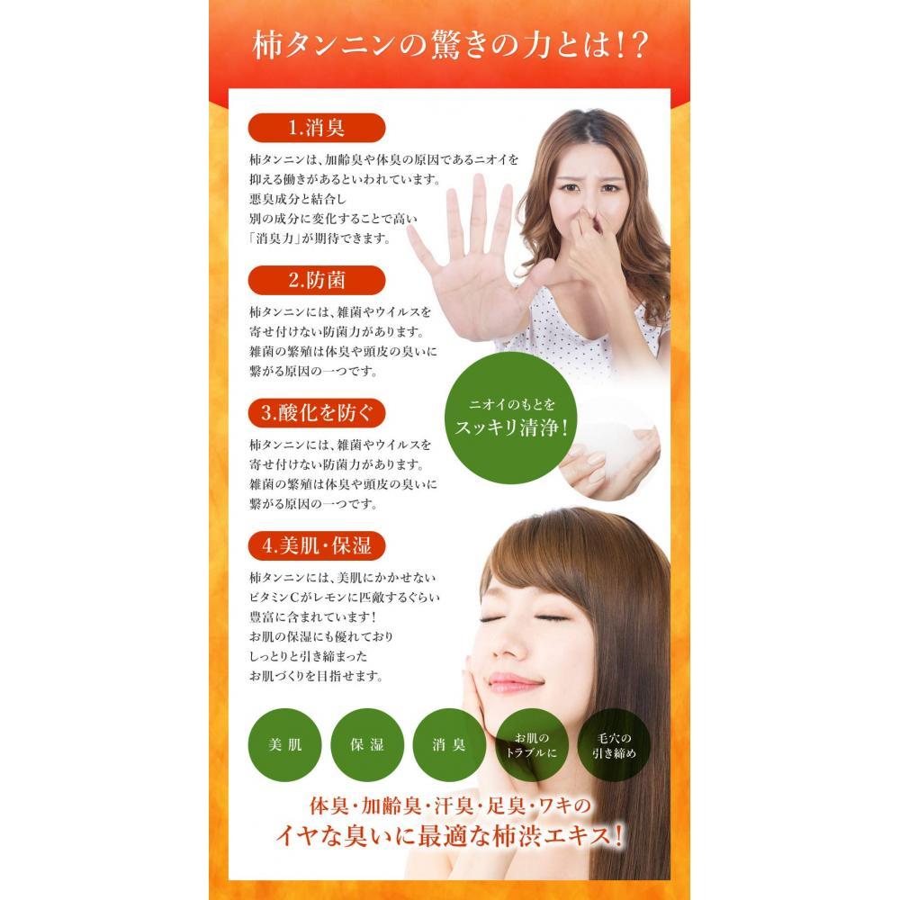 Kumano Yushi Medicated Kakishibu Body Soap Refill 1000ml x 2