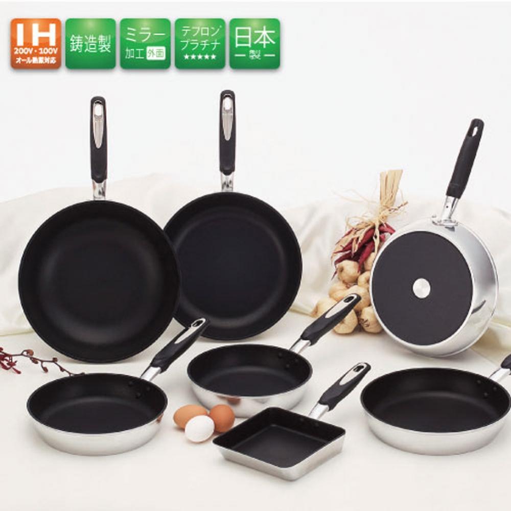 Hokuriku aluminum egg ware 16×18 cm [IH compatible] Wide IH high cast Teflon processing Made in Japan