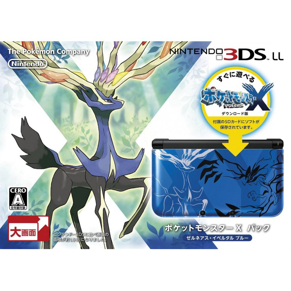 Nintendo 3DS LL Pokemon X Pack Zerneas Ivertal Blue [Manufacturer discontinued]