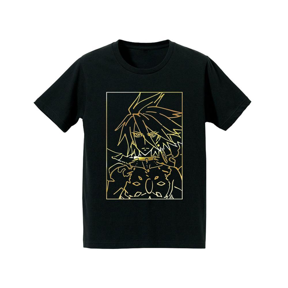 Fate/Apocrypha Red Lancer Foil Print T-shirt Men's XL size