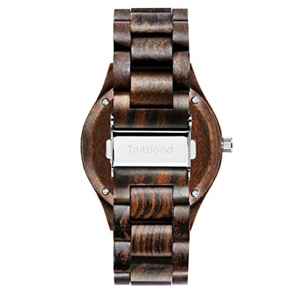 TruWood Hawk Wooden Watch Black Sandalwood Wooden Band