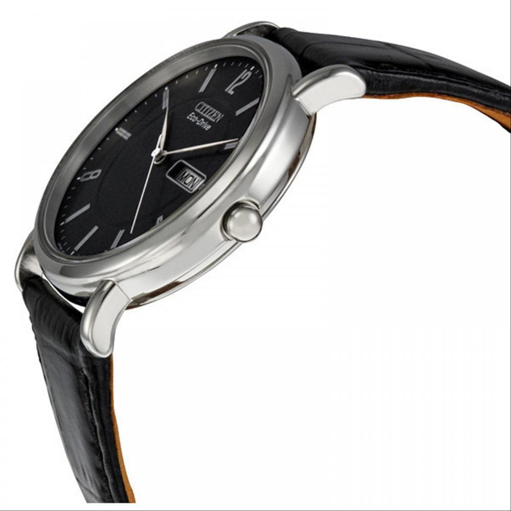 Citizen Men's BM8240-03E Eco-Drive Black Leather Watch