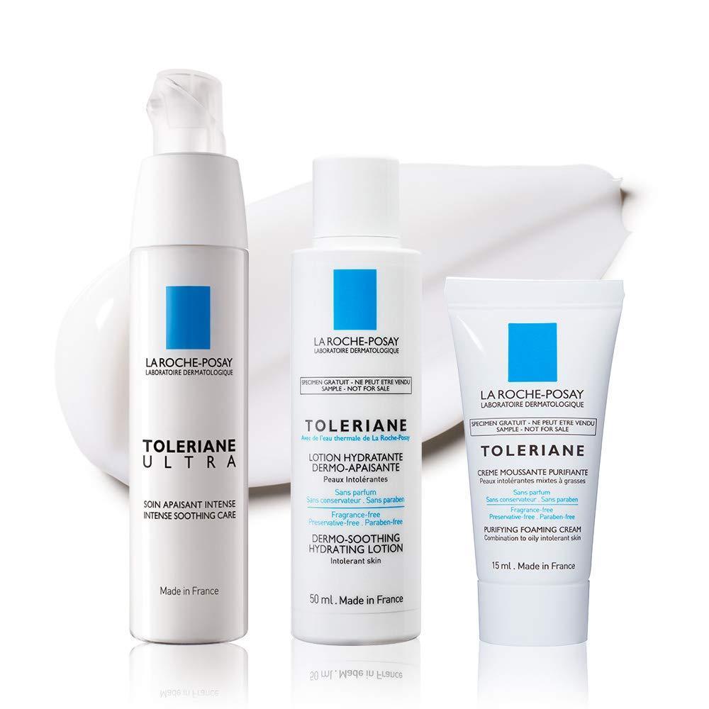 La Roche Poze [Moisturizing Cream Kit for Dry Skin] Tolerian Ultra Mini Lotion & Face Wash Kit