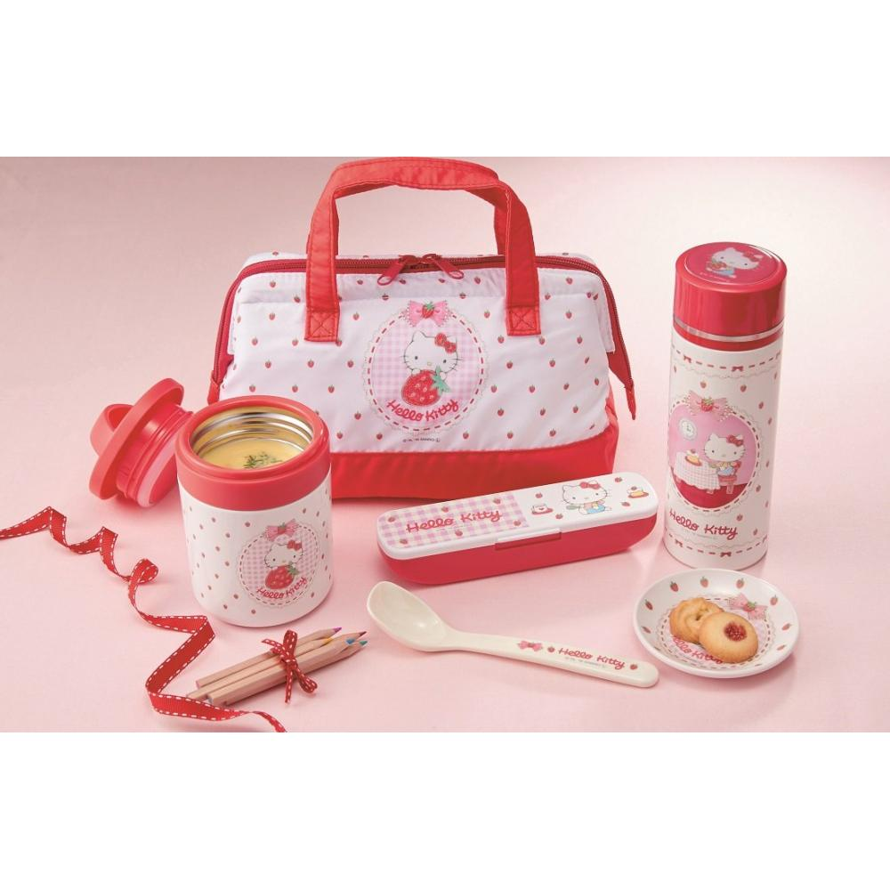 Skater lunch box 2 steps with silicone inner lid 630ml slim lunch box Hello Kitty colored pencil Sanrio SSLW6