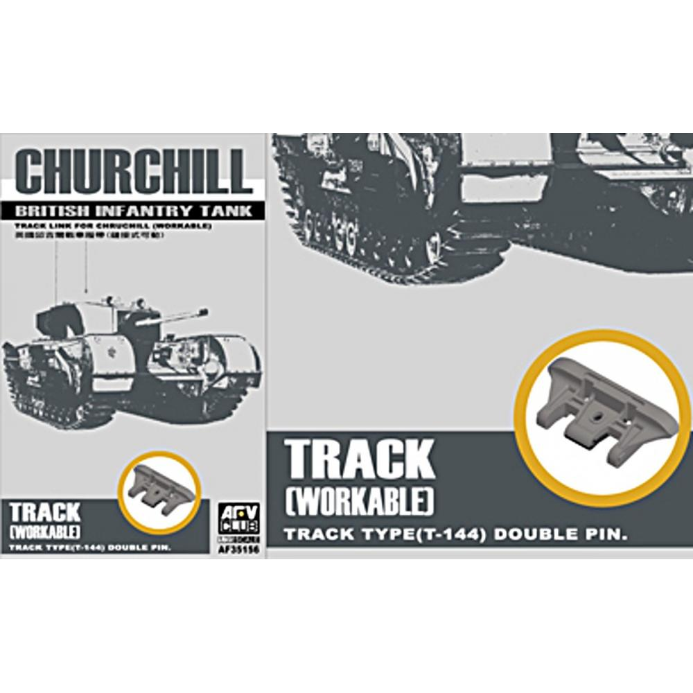 AFV Club 1/35 Churchill tank for parts for movable caterpillar Plastic FV35156