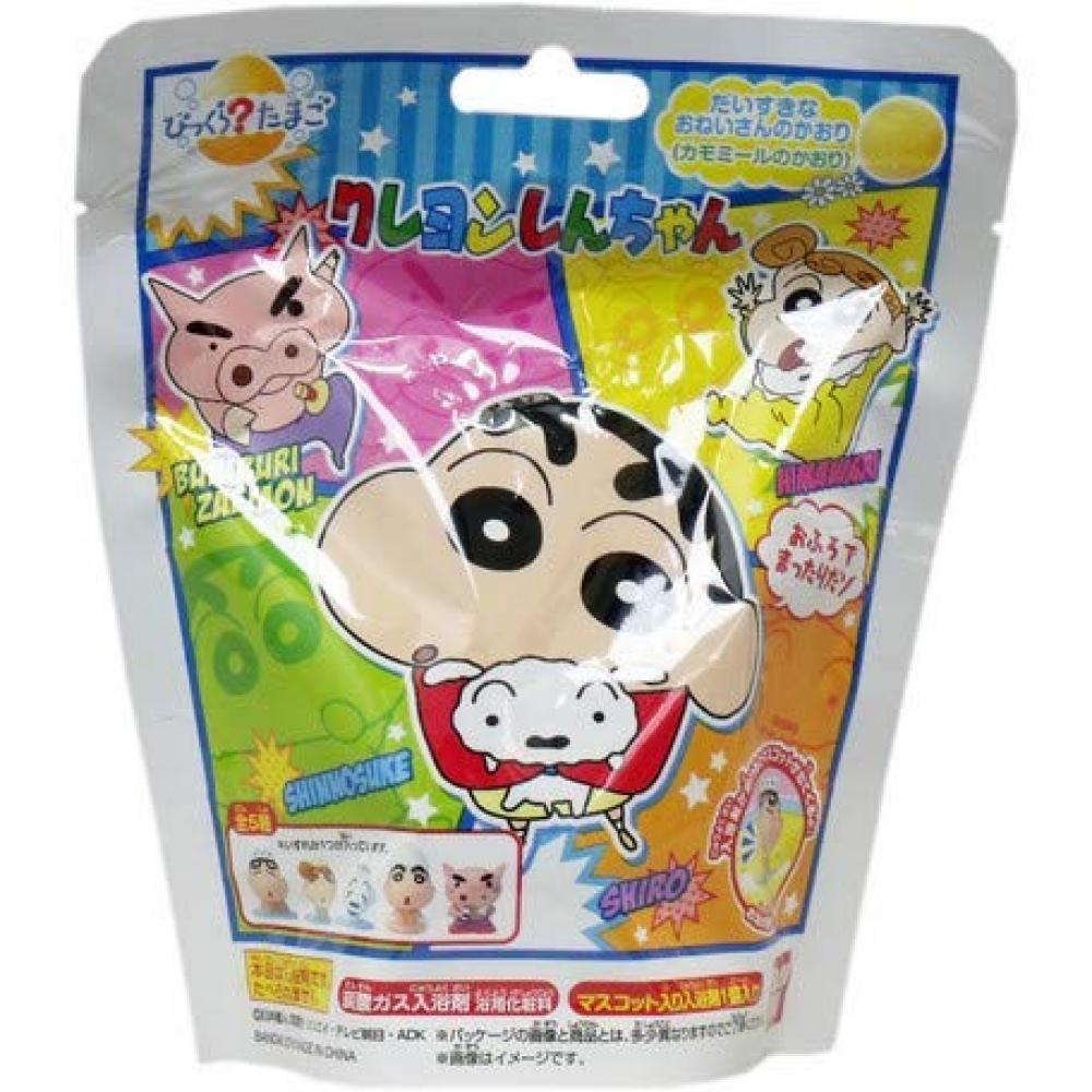 Bikura Tamago Crayon Shin-chan Bath Salt Bath Ball 5 Pieces 1 Set Chamomile Scent Mascot Figure Included