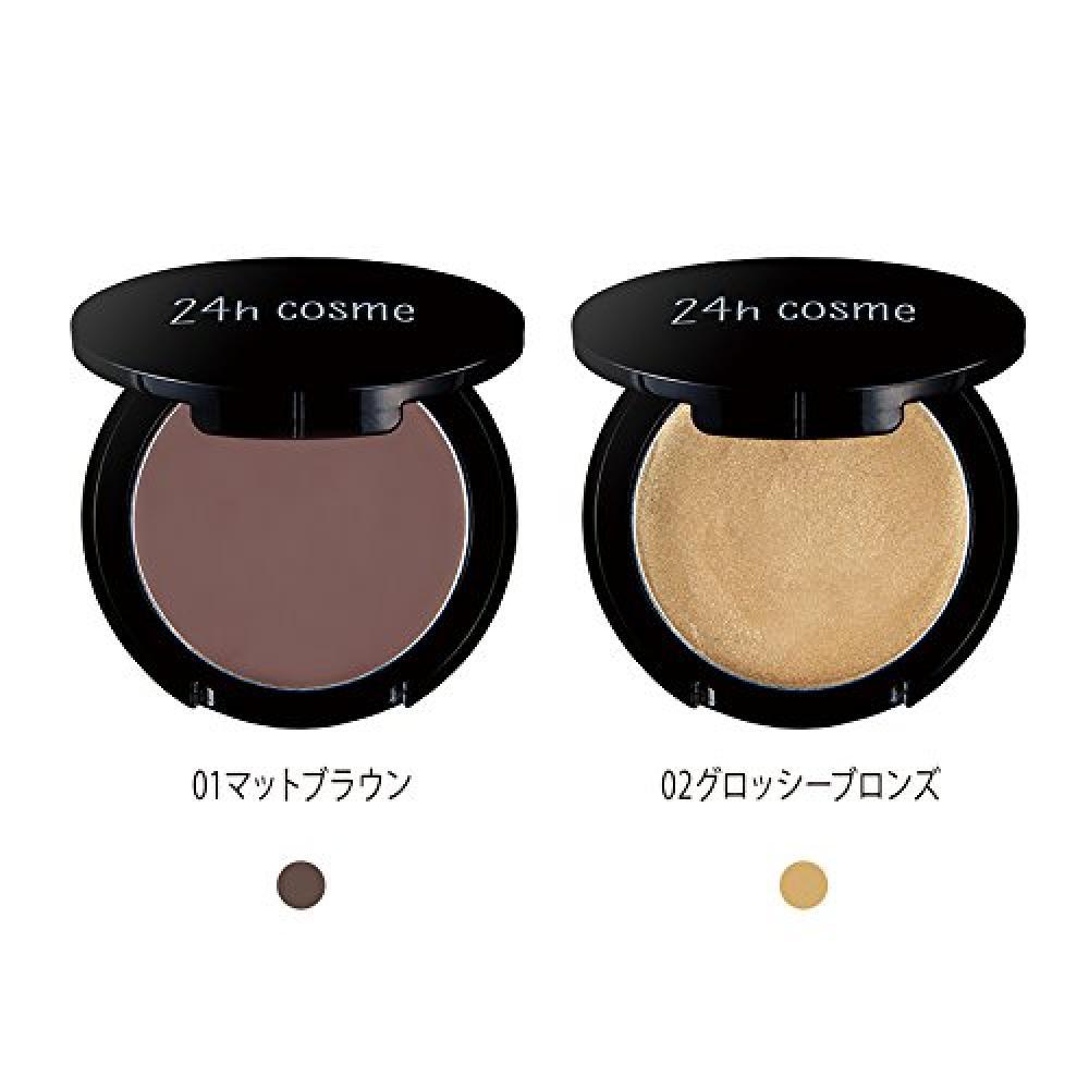 24h cosme 24 mineral cream shadow 01 matte brown