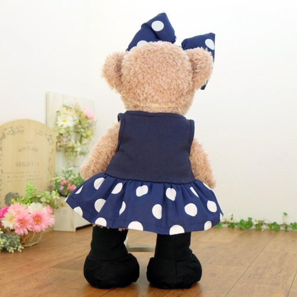cushu cush Sherry Mei Clothes Costume Duffy Shelliemey Minnie-chan coordinates Navy blue polka dot dress & ribbon & boots 43cm S size