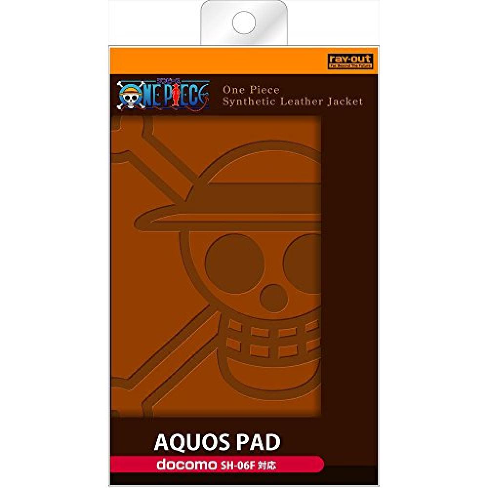 Ray Out for docomo AQUOS PAD SH-06F One Piece Series Leather Jacket (Synthetic Leather Type) Luffy Pirate Flag RT-OSH06FB/LF