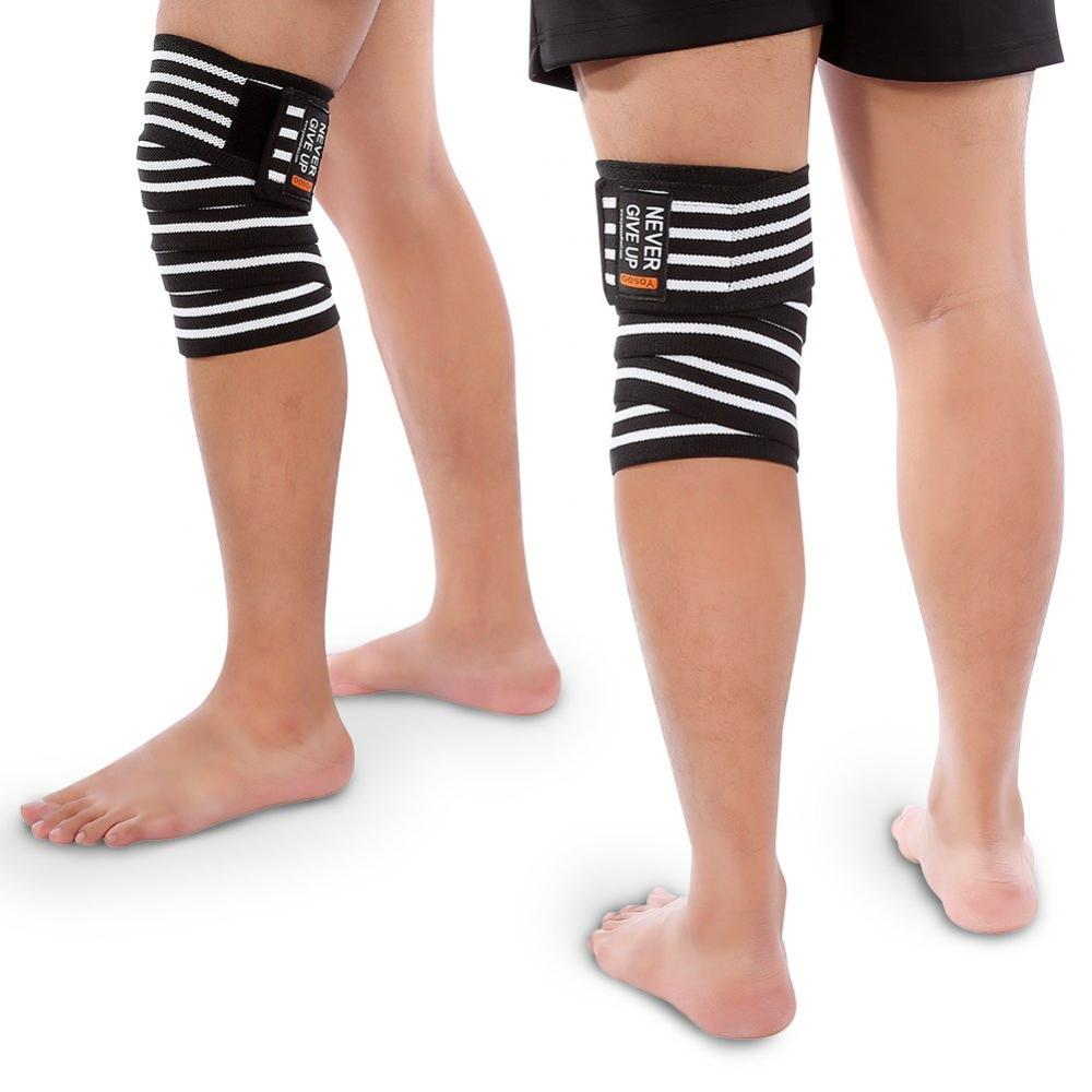 [Set of 2] Knee support Knee support Knee support belt Knee fixation for exercise Knee joint ligament protection Elasticity Breathability Good injury prevention Left and right combined use Unisex