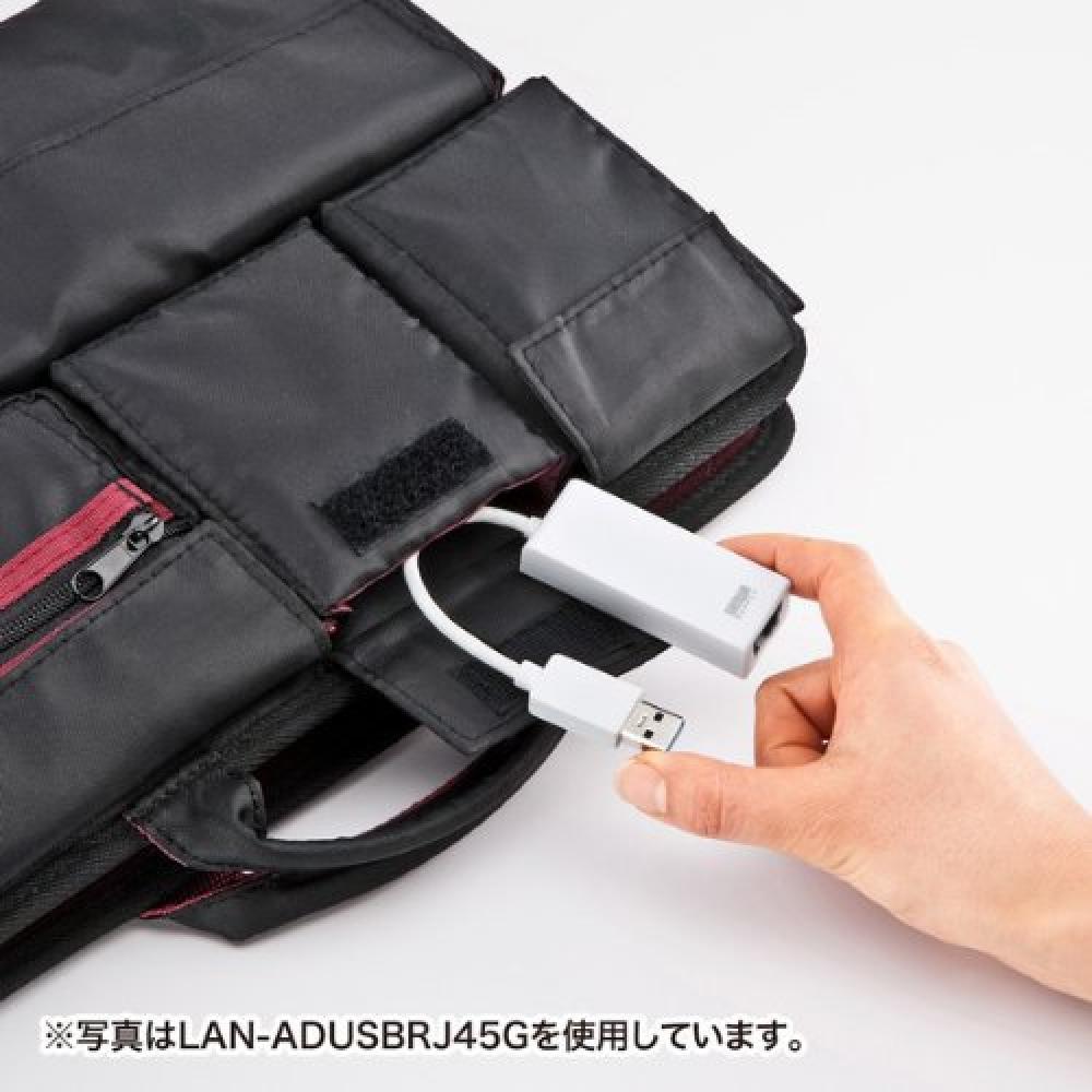 Sanwa Supply USB3.0 LAN adapter (Gigabit compatible) Black LAN-ADUSBRJ45GBK