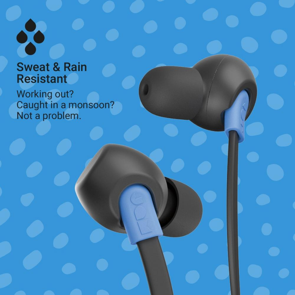 Jam Neckband Wireless Earphone TUNE IN Drip-proof / 12 hours continuous playback / Bluetooth compatible / Call compatible Black