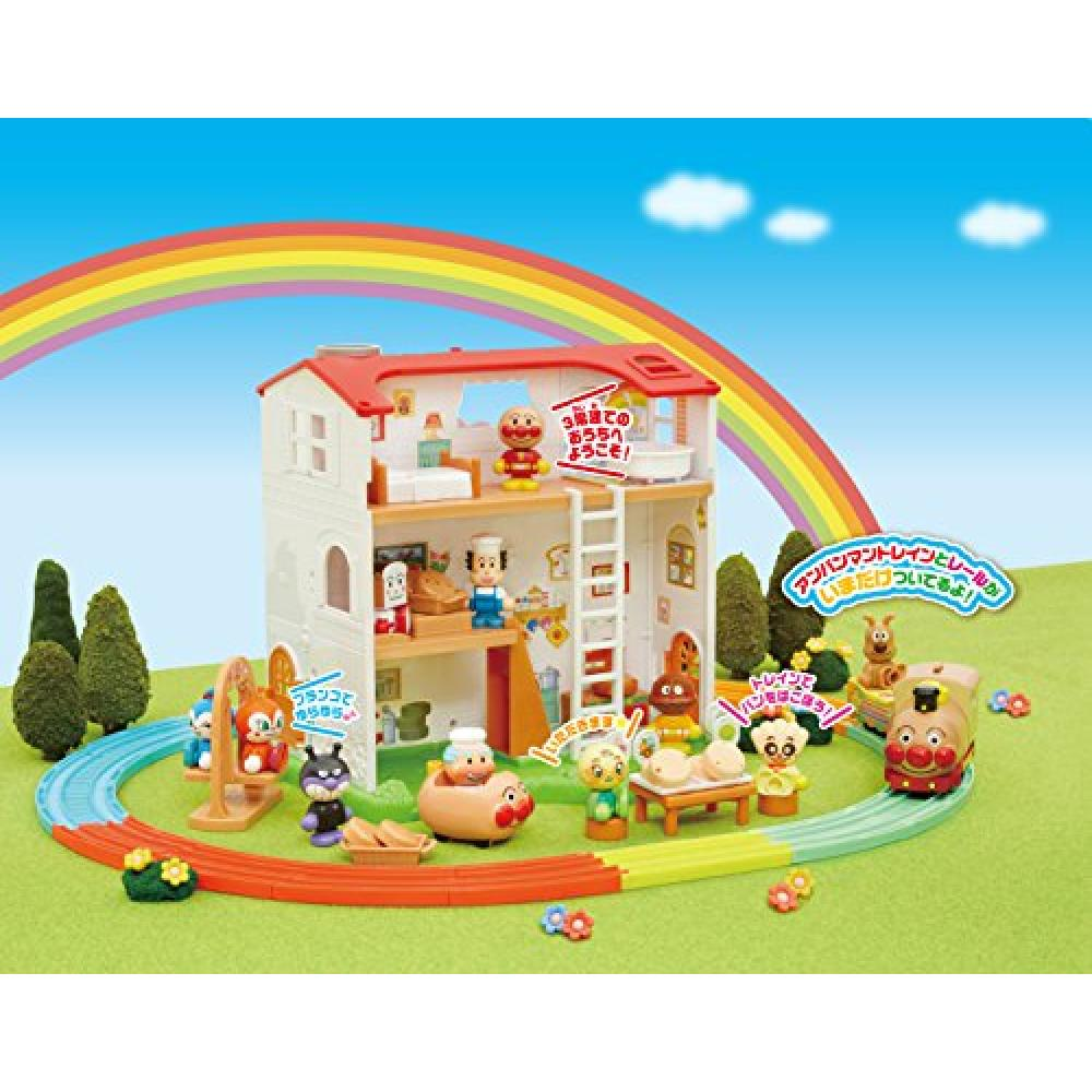 Anpanman Town Welcome! Fun! Bread improvement House and freshly baked carry by! Rail set DX