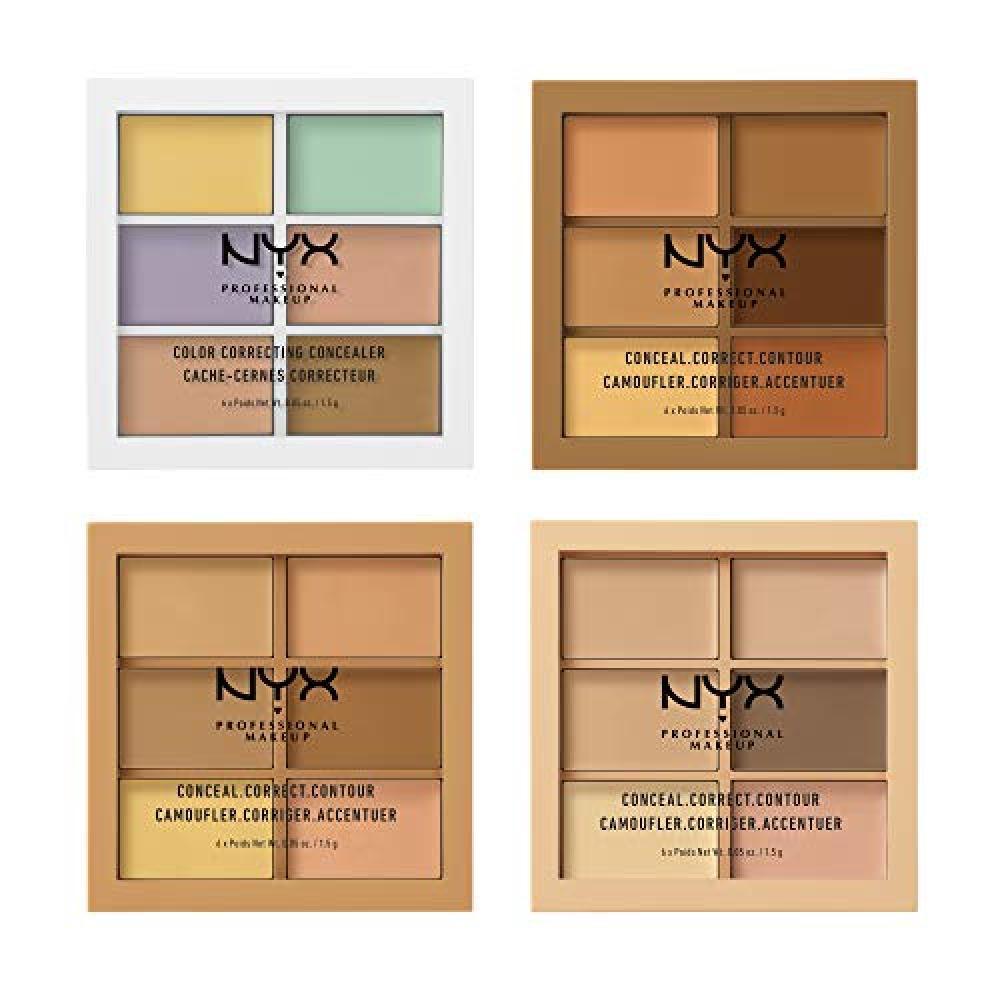 NYX Professional Makeup Conceal Collect Contour Palette A 04 Color Concealer Concealer