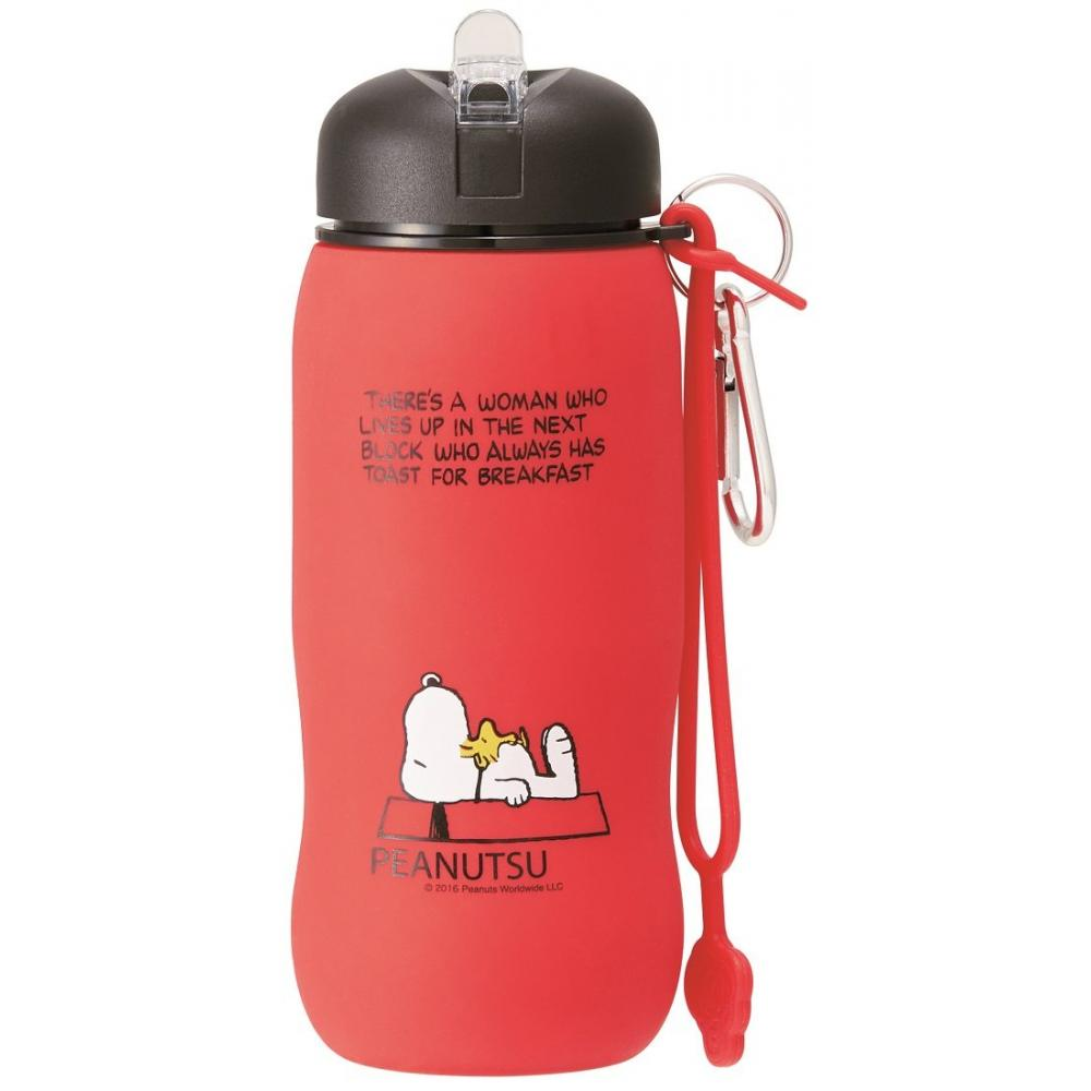 Skater lightweight water bottle Silicone bottle Folding water bottle 500ml Snoopy SLBT1