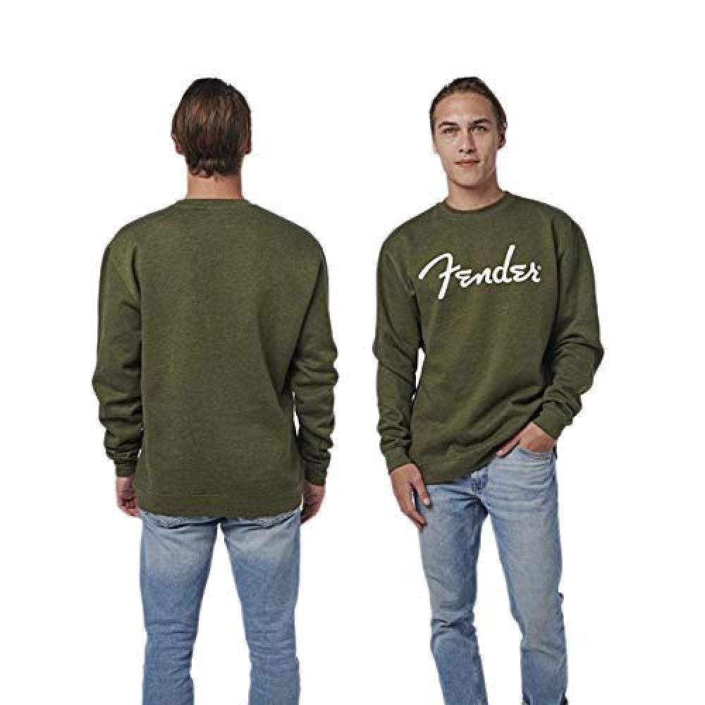 Fender Spaghetti Logo Pullover Army Green L Sweatshirt