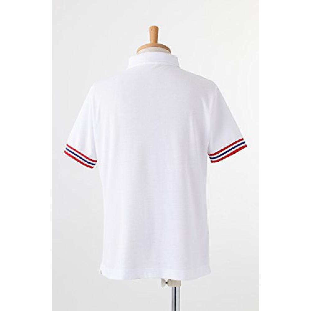 ACOS Uta no Prince-sama Maji LOVE 1000% Saotome Gakuen School Uniform Men's Summer Polo Shirt A Class White M Size