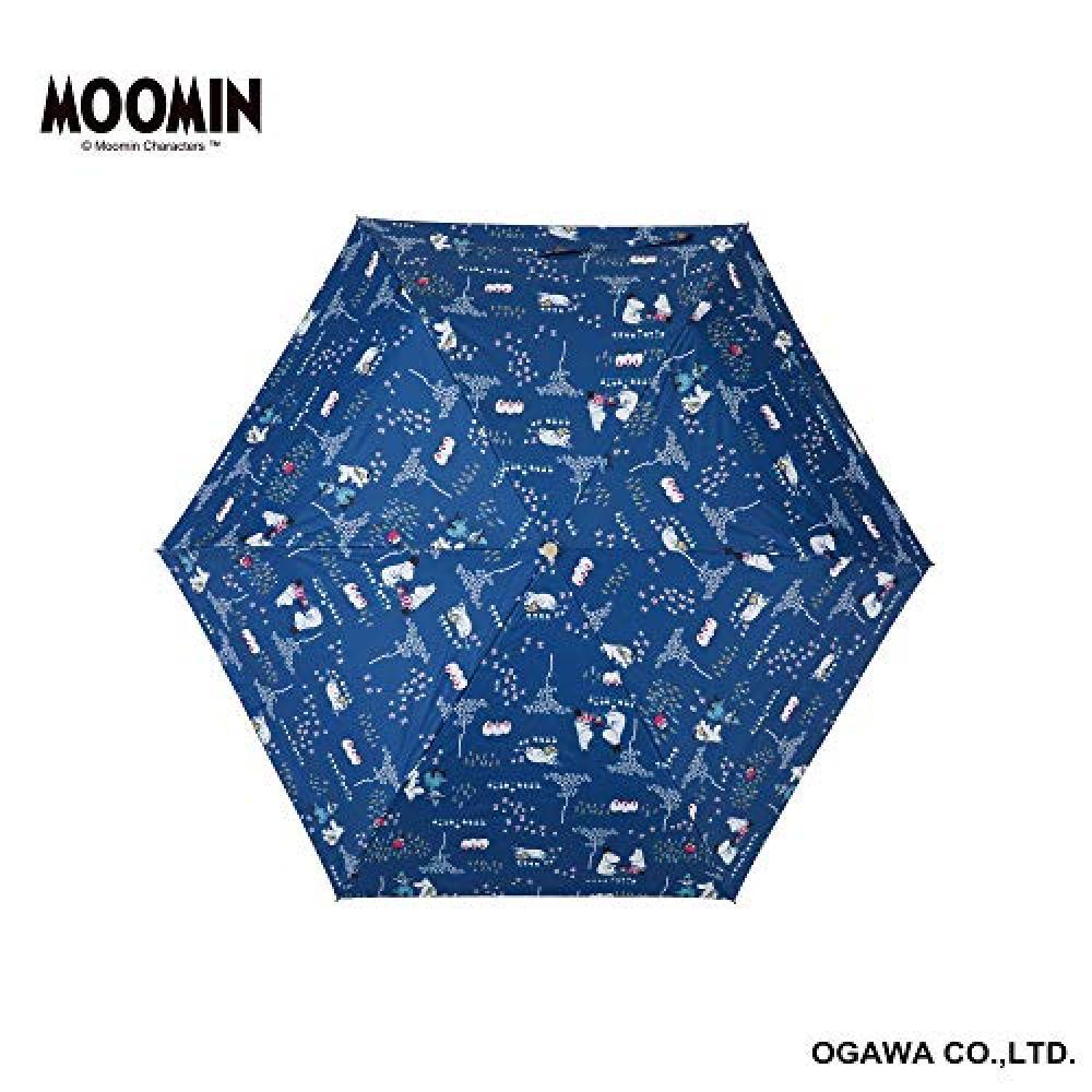 Ogawa Folding Umbrella Sunny Rainy Day Parasol Hand Opening 50cm 6 bones Moomin/Family Time UV cut rate & shading rate 99% or more Heat shield Water repellency Backside polyurethane coating 56134