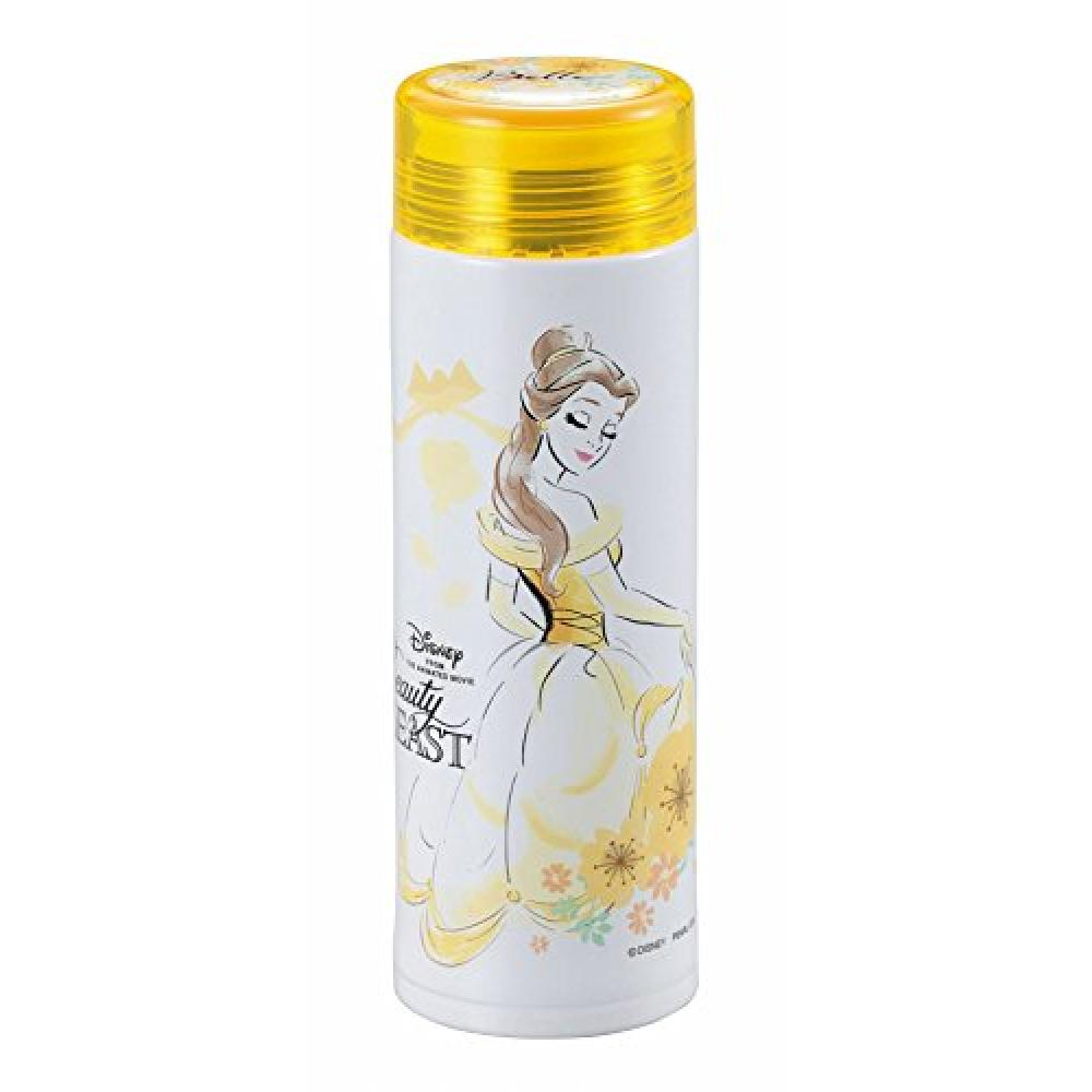 Disney water bottle 300ml direct drink lightweight slim personal bottle with ice stopper vacuum insulation beauty and the beast/floral