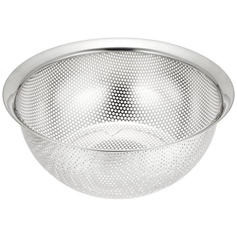 Simple wear Stainless steel punching colander 24cm HW-7354