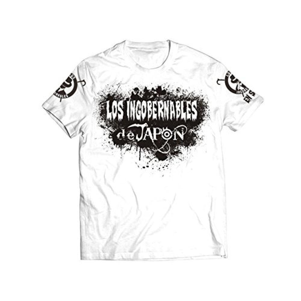 """BUSHI × L · I · J """"MIST"""" T-shirt (White × Black) S"""