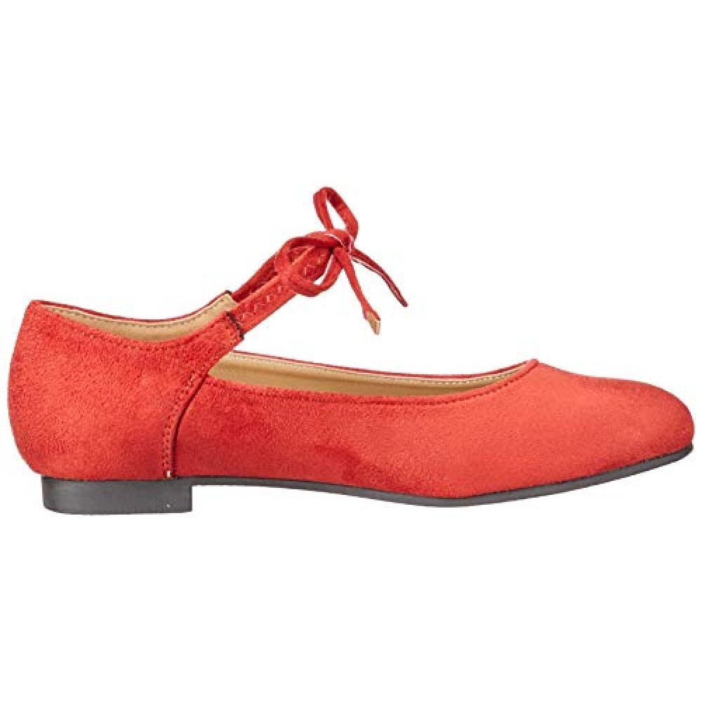 [Liberty Doll] removable easy to rubber fit race flat Legs Pumps / 5539 5539 Ladies Orange S / M / L Display SS (22.5 cm)