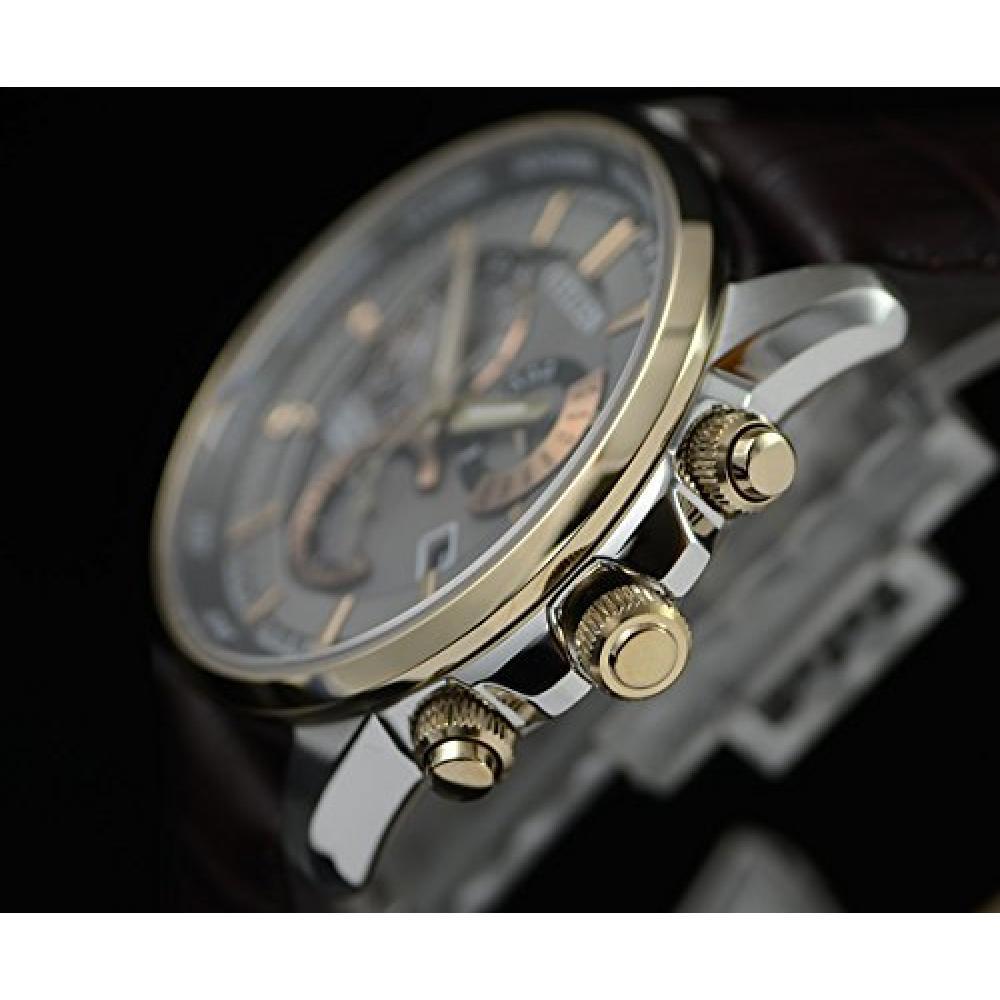 [Set] [Citizen] CITIZEN Permanent Perpetual Calendar Solar Rechargeable Wrist Watch with 10 ATM Waterproof Men's BL8148-11H & ROOSTER Microfiber Cloth 15×15cm