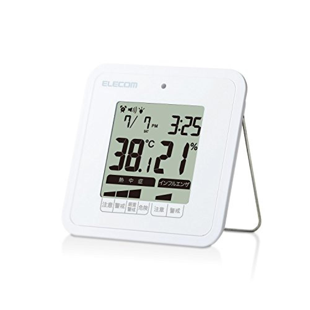 Elecom temperature and humidity warning meter digital heatstroke, anti-virus warning alarm compact size white OND-03WH OND-03WH