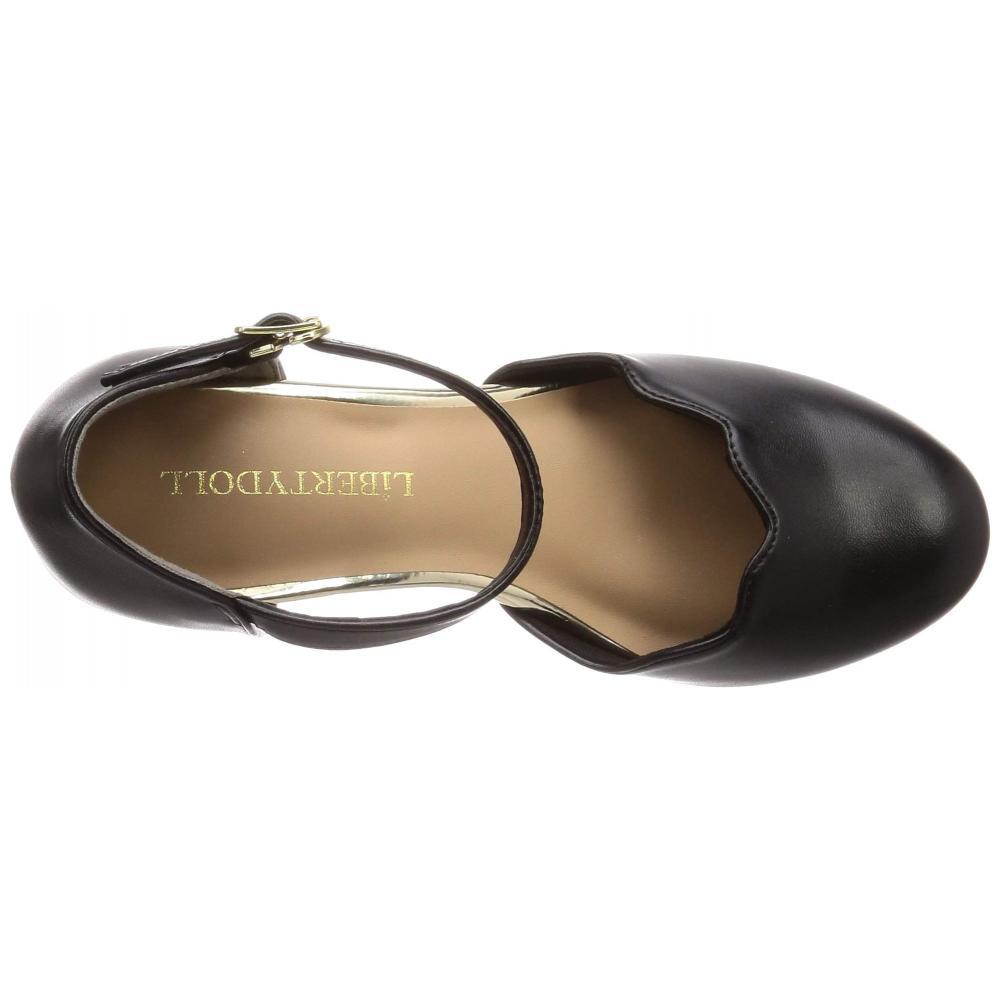 [Liberty Doll] Separate strap chunky heel scalloped pumps / 5480 5480 Ladies black copy Yu S / M / L Display M (23.5 cm)