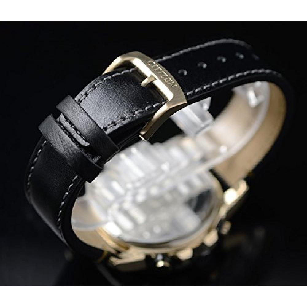 Reverse Import Citizen Eco-Drive Radio Solar Chronograph World Timer Watch Wrist Watch Clock Radio Clock Mens Black Rose Gold CITIZEN AT8126-02E