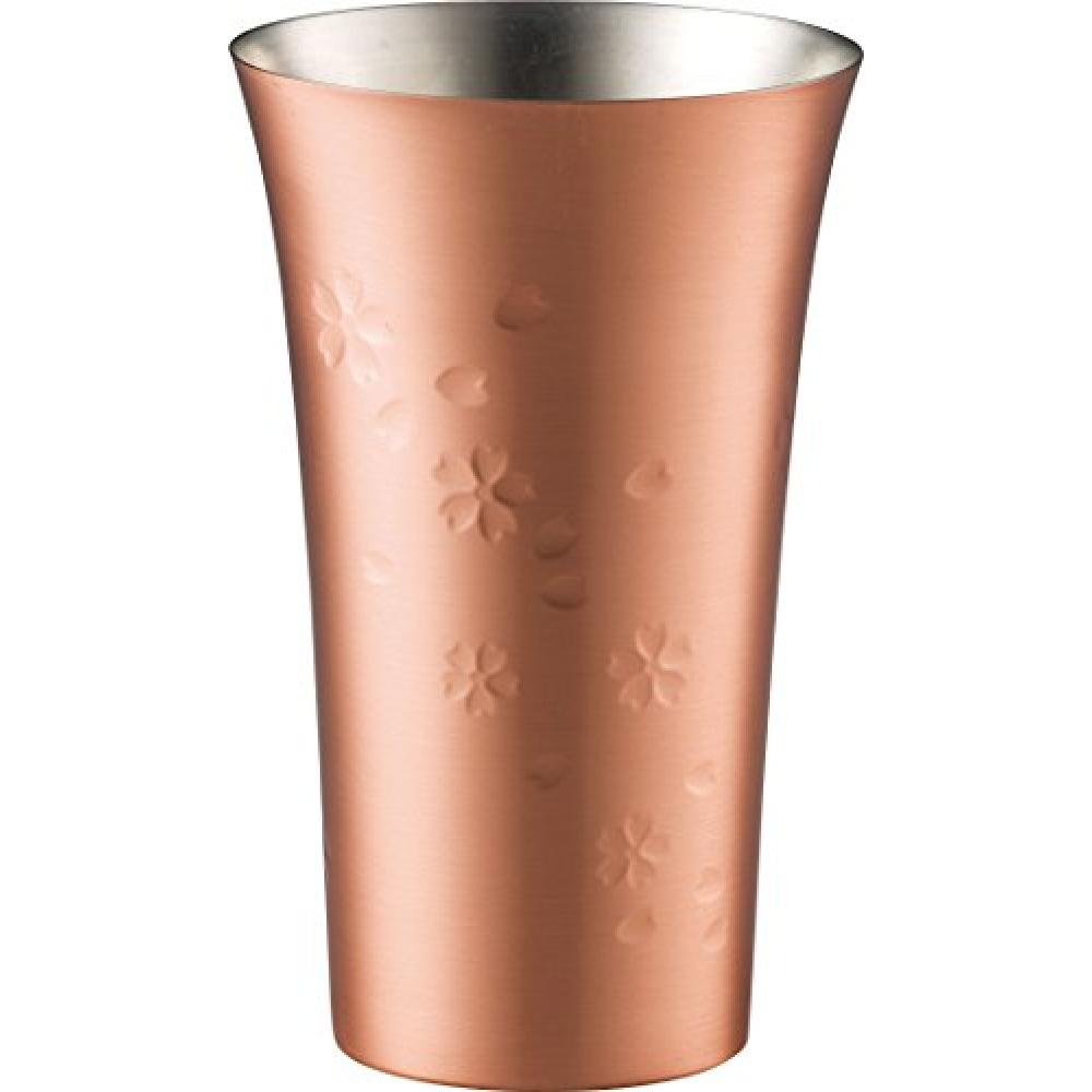 Hehei Phases Pure Copper Sakura Tumbler 370ml Tsubame Clear EM-9504