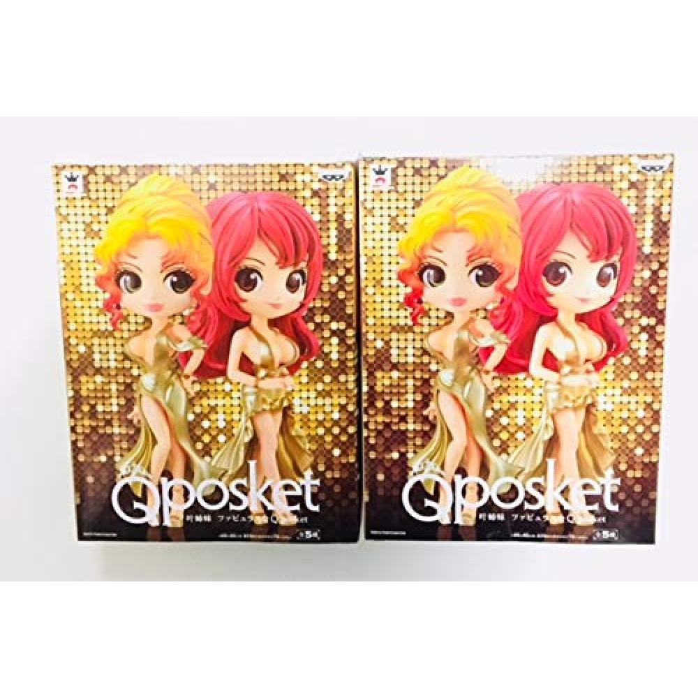 Q posket Kano Sisters fabulous Qposket [KanoKyoko] [KanoMika] gold dress set