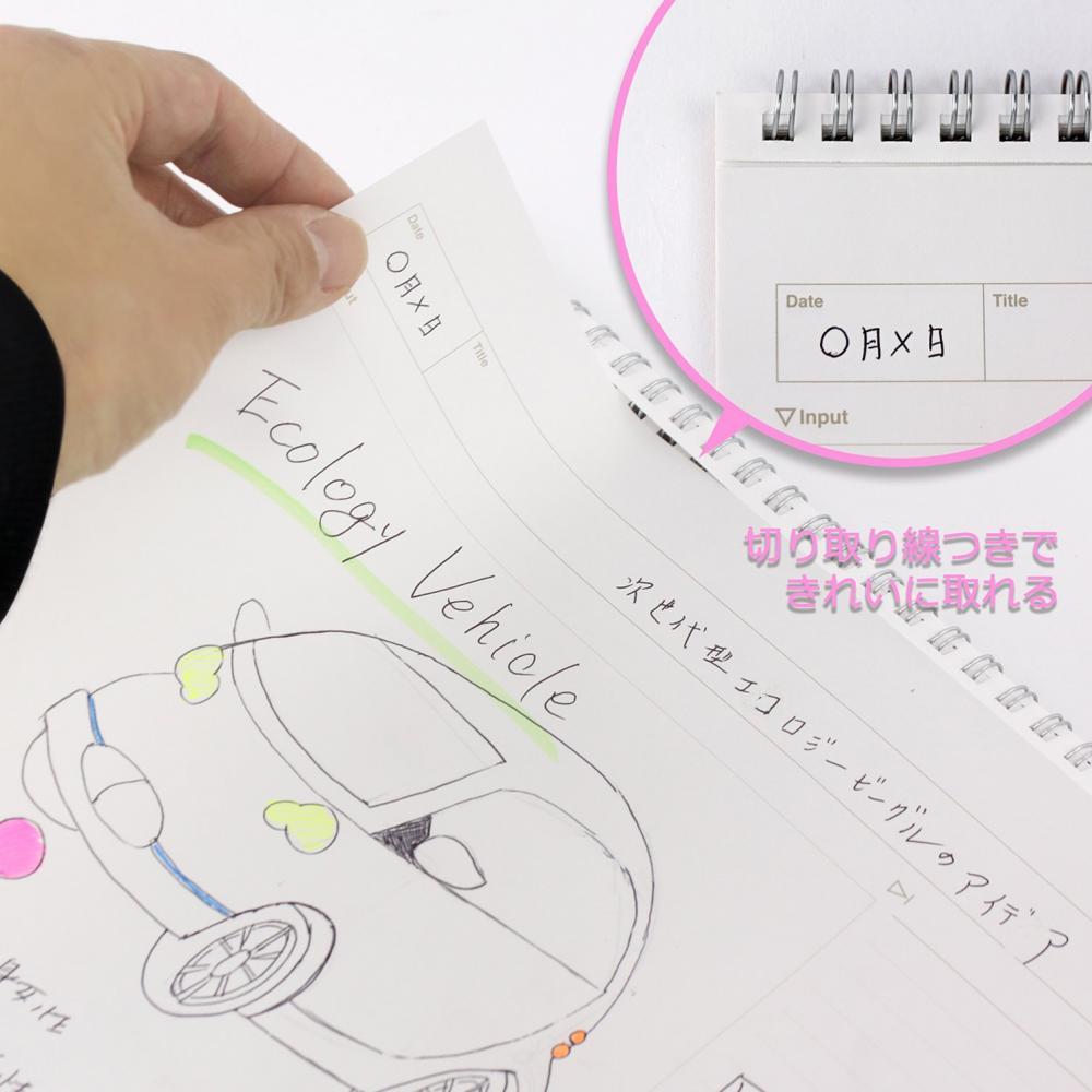 Apika Twin Ring Notebook Figlare Matrix Notebook A4 SW130K Black